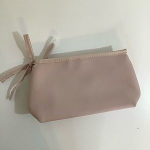 Burberry beauty blush colored cosmetic bag NWT